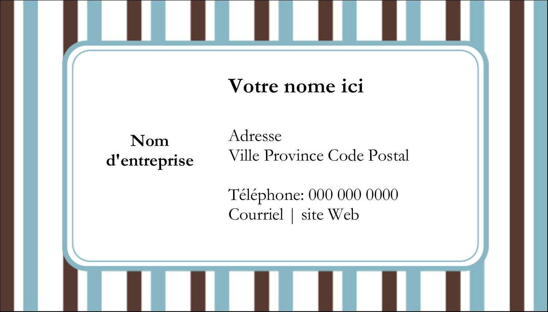 """3"""" x 5"""" Cartes Pour Le Bureau - Rayures bleues"""