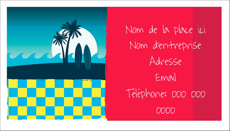 """3"""" x 5"""" Cartes Pour Le Bureau - Surf tropical"""