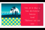Surf tropical Cartes Pour Le Bureau - gabarit prédéfini. <br/>Utilisez notre logiciel Avery Design & Print Online pour personnaliser facilement la conception.