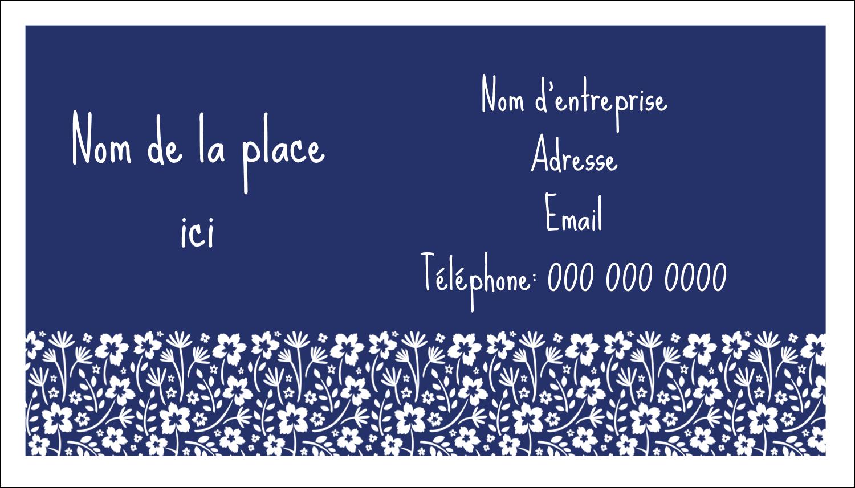 """3"""" x 5"""" Cartes Pour Le Bureau - Petit bouquet bleu"""