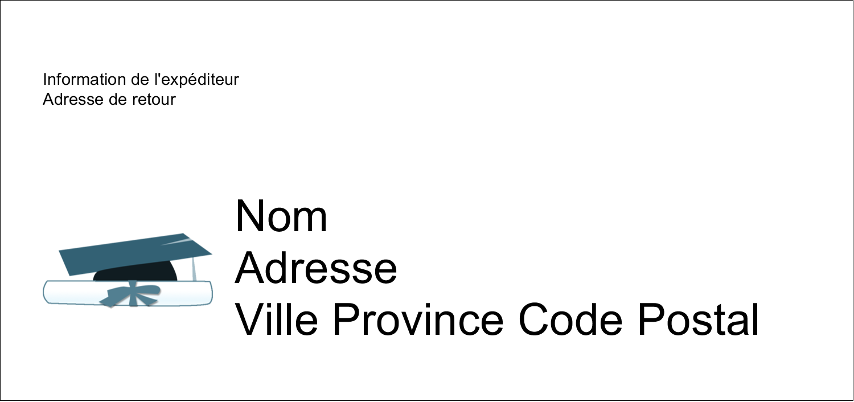 """4¼"""" x 2"""" Étiquettes Pour Copieurs - Remise des diplômes en bleu"""