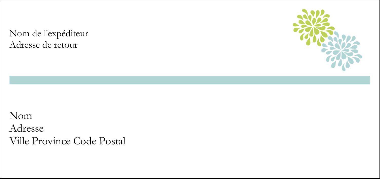 """2-13/16"""" x 1½"""" Étiquettes Pour Copieurs - Fleurs bleues et vertes"""