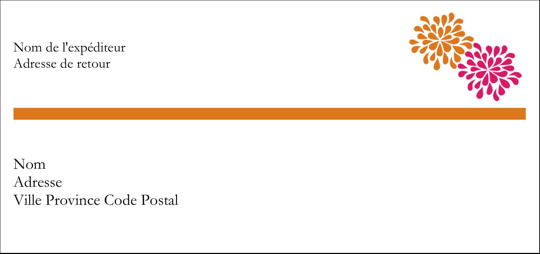 """2-13/16"""" x 1½"""" Étiquettes Pour Copieurs - Fête prénuptiale en rose et orange"""