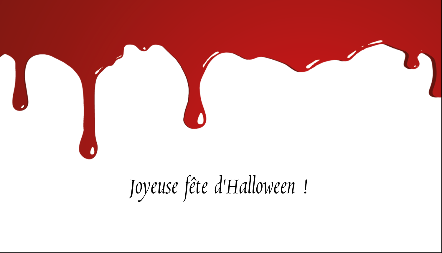 "2"" x 3½"" Carte d'affaire - Halloween sanglante"