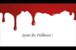 Halloween sanglante Carte d'affaire - gabarit prédéfini. <br/>Utilisez notre logiciel Avery Design & Print Online pour personnaliser facilement la conception.