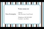 Rayures bleues Carte d'affaire - gabarit prédéfini. <br/>Utilisez notre logiciel Avery Design & Print Online pour personnaliser facilement la conception.
