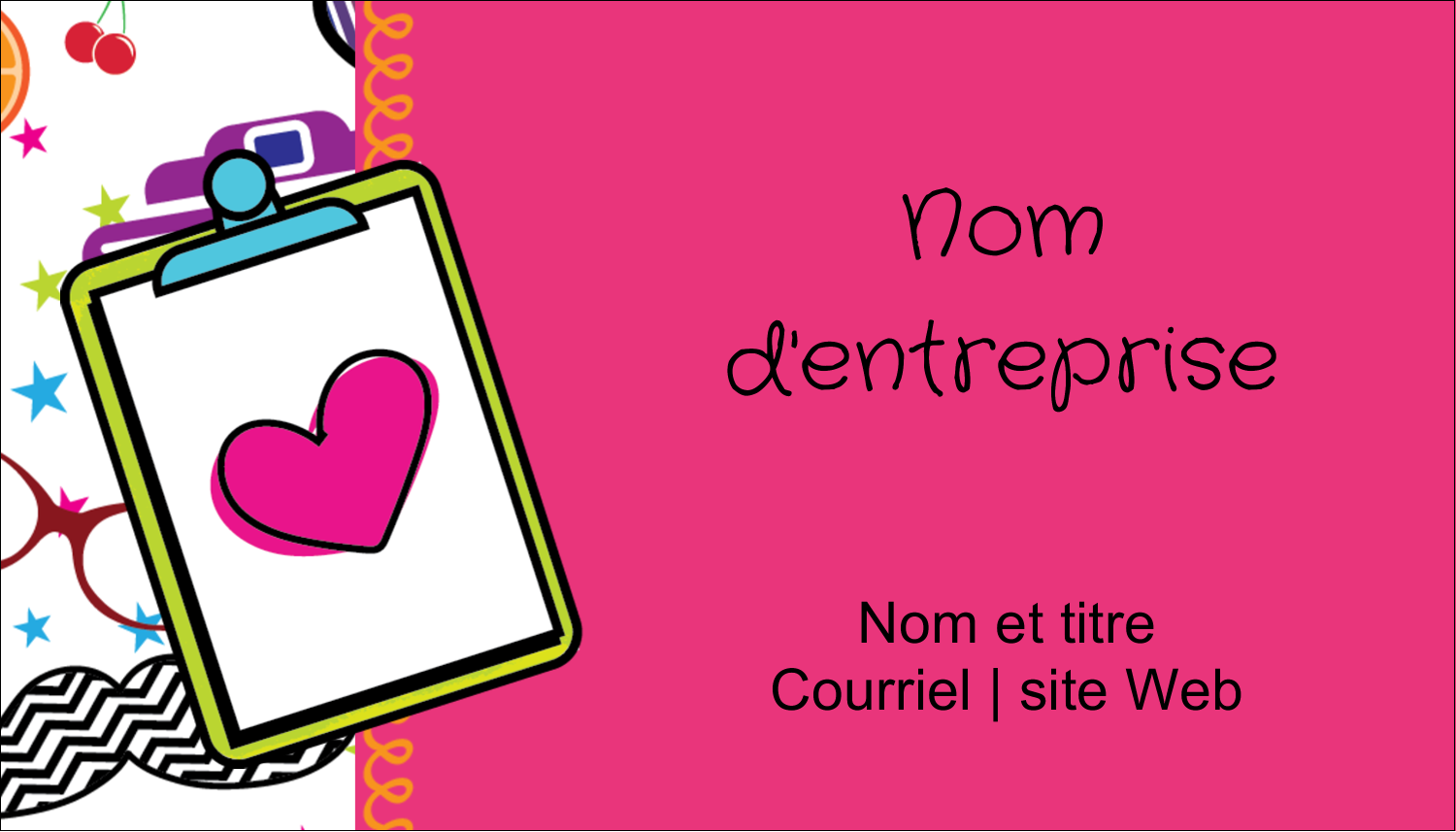 "2"" x 3½"" Carte d'affaire - Supermotifs"