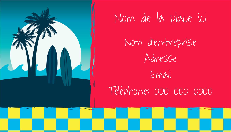 """2"""" x 3½"""" Carte d'affaire - Surf tropical"""