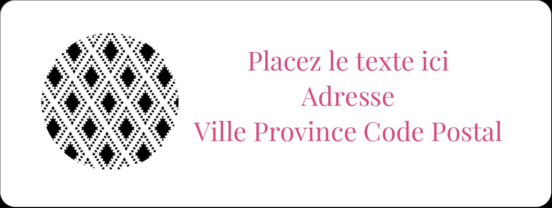 """1½"""" x 4"""" Étiquettes D'Adresse - Damas décoratif"""