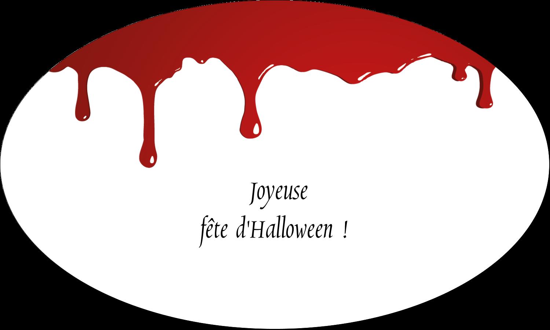 """1½"""" x 1½"""" Étiquettes carrées - Halloween sanglante"""