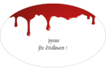 Halloween sanglante Étiquettes carrées - gabarit prédéfini. <br/>Utilisez notre logiciel Avery Design & Print Online pour personnaliser facilement la conception.