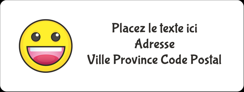 """1½"""" x 4"""" Étiquettes D'Adresse - Visages d'émojis"""