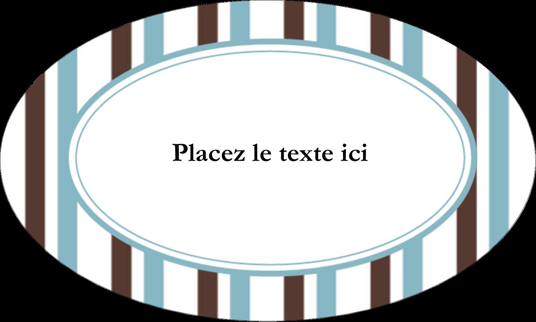 """1½"""" x 1½"""" Étiquettes carrées - Rayures bleues"""