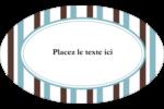 Rayures bleues Étiquettes carrées - gabarit prédéfini. <br/>Utilisez notre logiciel Avery Design & Print Online pour personnaliser facilement la conception.