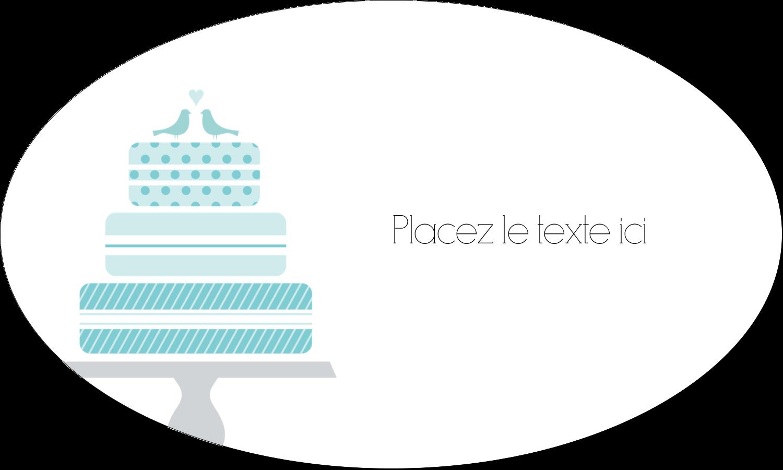 """1½"""" x 1½"""" Étiquettes carrées - Figurines d'oiseau bleu pour gâteau de noces"""