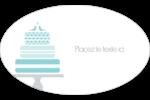Figurines d'oiseau bleu pour gâteau de noces Étiquettes carrées - gabarit prédéfini. <br/>Utilisez notre logiciel Avery Design & Print Online pour personnaliser facilement la conception.