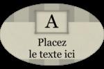 Initiale ex-libris Étiquettes ovales - gabarit prédéfini. <br/>Utilisez notre logiciel Avery Design & Print Online pour personnaliser facilement la conception.