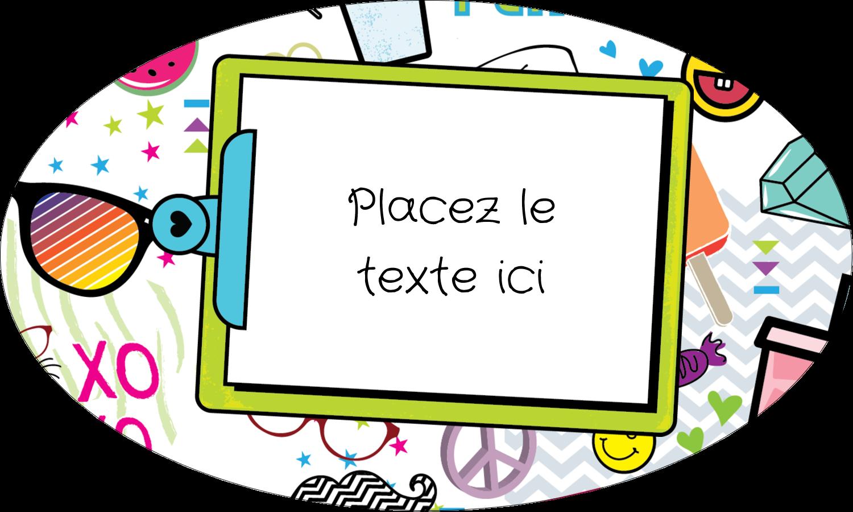 """1½"""" x 1½"""" Étiquettes carrées - Supermotifs"""