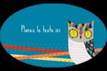Hibou rusé Étiquettes carrées - gabarit prédéfini. <br/>Utilisez notre logiciel Avery Design & Print Online pour personnaliser facilement la conception.