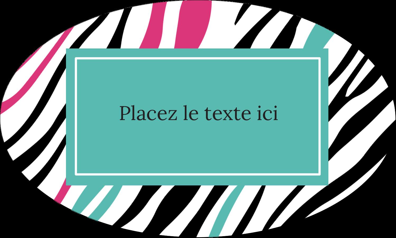 """1½"""" x 1½"""" Étiquettes carrées - Empreintes d'animaux"""