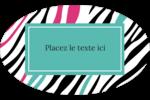 Empreintes d'animaux Étiquettes carrées - gabarit prédéfini. <br/>Utilisez notre logiciel Avery Design & Print Online pour personnaliser facilement la conception.