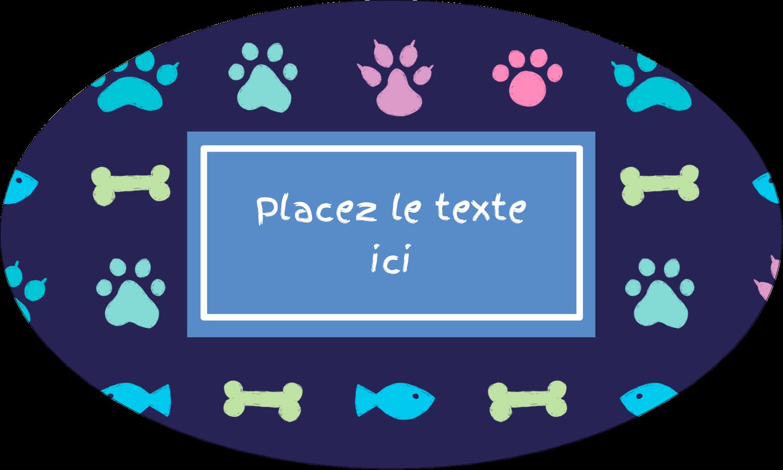 """1½"""" x 1½"""" Étiquettes carrées - Amis poilus"""