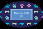 Amis poilus Étiquettes carrées - gabarit prédéfini. <br/>Utilisez notre logiciel Avery Design & Print Online pour personnaliser facilement la conception.