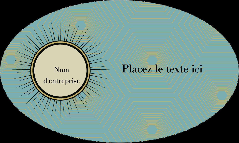 """1½"""" x 1½"""" Étiquettes carrées - Explosion fauve"""