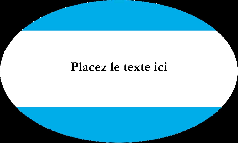 """1½"""" x 1½"""" Étiquettes carrées - Barre bleue"""