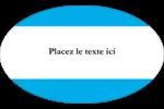 Barre bleue Étiquettes carrées - gabarit prédéfini. <br/>Utilisez notre logiciel Avery Design & Print Online pour personnaliser facilement la conception.