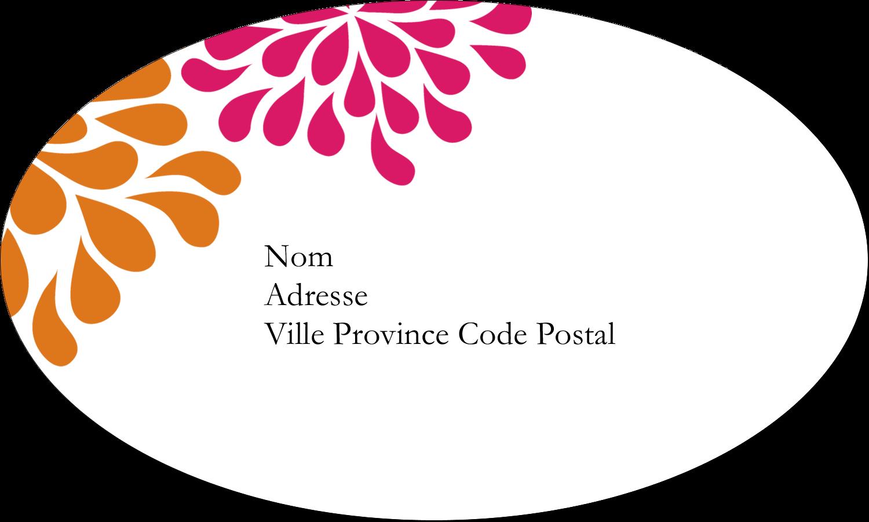 """1½"""" x 1½"""" Étiquettes carrées - Fête prénuptiale en rose et orange"""