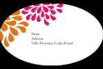 Fête prénuptiale en rose et orange Étiquettes carrées - gabarit prédéfini. <br/>Utilisez notre logiciel Avery Design & Print Online pour personnaliser facilement la conception.
