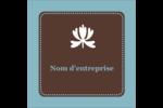 Bordure en brun et bleu Étiquettes carrées - gabarit prédéfini. <br/>Utilisez notre logiciel Avery Design & Print Online pour personnaliser facilement la conception.