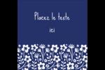 Petit bouquet bleu Étiquettes carrées - gabarit prédéfini. <br/>Utilisez notre logiciel Avery Design & Print Online pour personnaliser facilement la conception.