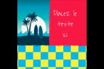 Surf tropical Étiquettes carrées - gabarit prédéfini. <br/>Utilisez notre logiciel Avery Design & Print Online pour personnaliser facilement la conception.
