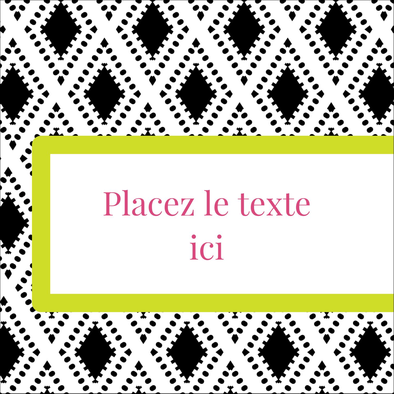 """1½"""" x 1½"""" Étiquettes carrées - Damas décoratif"""