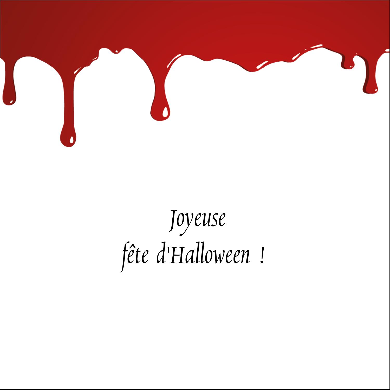 """2"""" Diameter Étiquettes rondes - Halloween sanglante"""