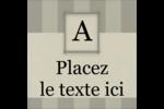 Initiale ex-libris Étiquettes carrées - gabarit prédéfini. <br/>Utilisez notre logiciel Avery Design & Print Online pour personnaliser facilement la conception.