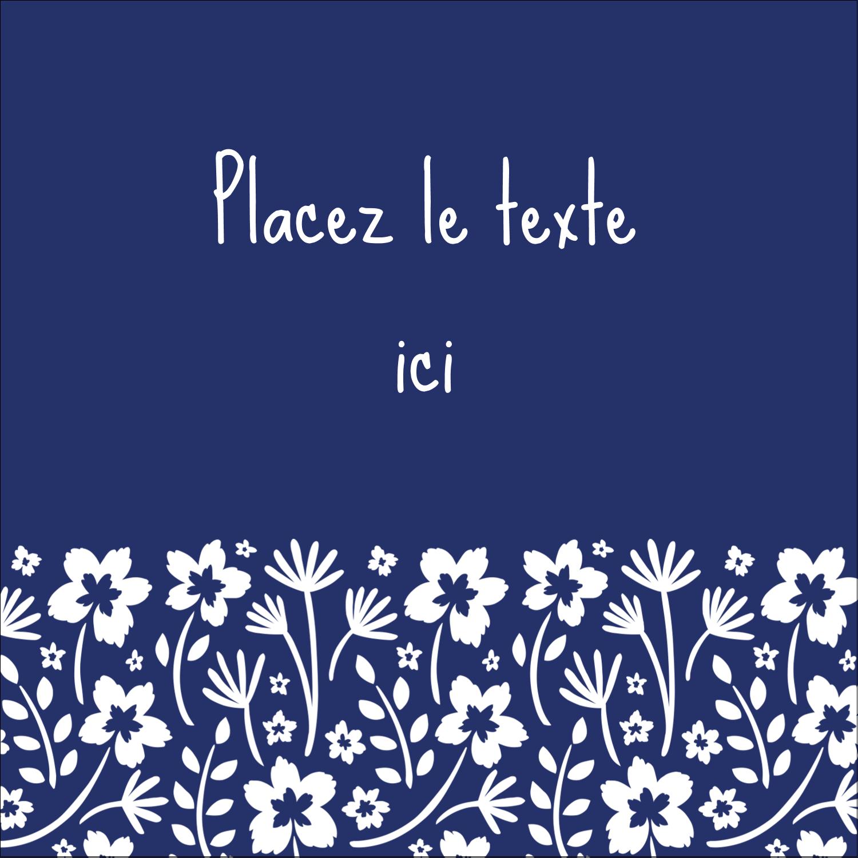 """2"""" Diameter Étiquettes rondes - Petit bouquet bleu"""