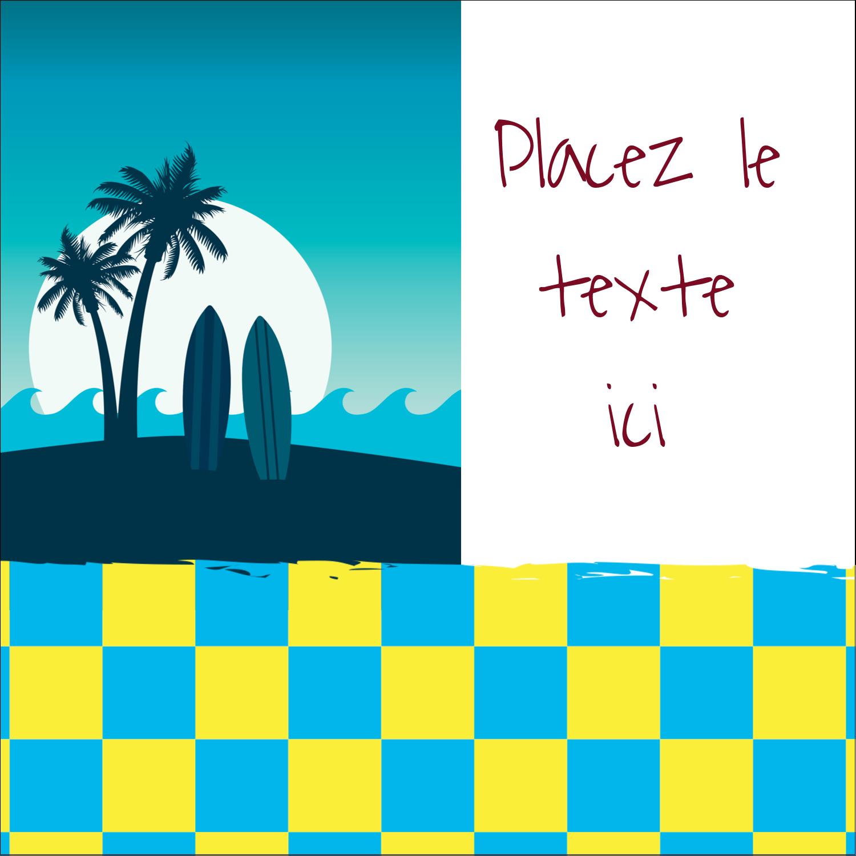 """9¾"""" x 1¼"""" Étiquettes enveloppantes - Surf tropical"""