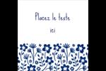 Petit bouquet bleu Étiquettes enveloppantes - gabarit prédéfini. <br/>Utilisez notre logiciel Avery Design & Print Online pour personnaliser facilement la conception.