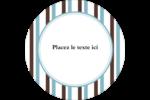 Rayures bleues Étiquettes rondes - gabarit prédéfini. <br/>Utilisez notre logiciel Avery Design & Print Online pour personnaliser facilement la conception.