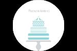 Figurines d'oiseau bleu pour gâteau de noces Étiquettes rondes - gabarit prédéfini. <br/>Utilisez notre logiciel Avery Design & Print Online pour personnaliser facilement la conception.
