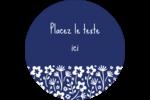 Petit bouquet bleu Étiquettes rondes - gabarit prédéfini. <br/>Utilisez notre logiciel Avery Design & Print Online pour personnaliser facilement la conception.