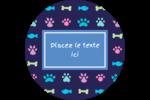 Amis poilus Étiquettes rondes - gabarit prédéfini. <br/>Utilisez notre logiciel Avery Design & Print Online pour personnaliser facilement la conception.
