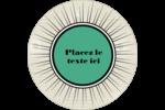 Explosion de vert Étiquettes rondes - gabarit prédéfini. <br/>Utilisez notre logiciel Avery Design & Print Online pour personnaliser facilement la conception.