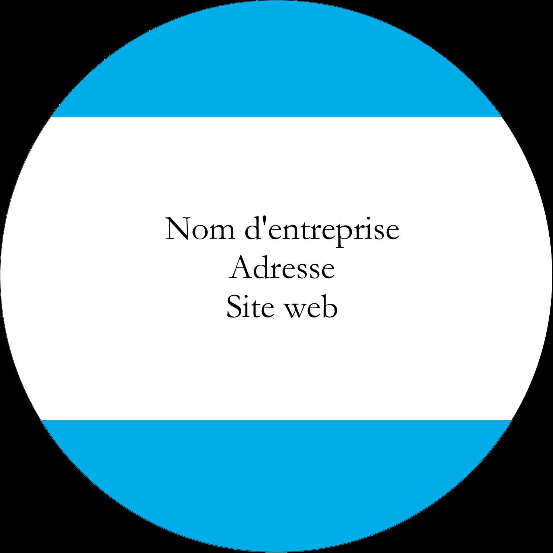 """2½"""" Diameter Étiquettes rondes - Barre bleue"""