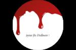 Halloween sanglante Étiquettes arrondies - gabarit prédéfini. <br/>Utilisez notre logiciel Avery Design & Print Online pour personnaliser facilement la conception.