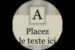 Initiale ex-libris Étiquettes rondes - gabarit prédéfini. <br/>Utilisez notre logiciel Avery Design & Print Online pour personnaliser facilement la conception.