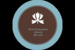 Bordure en brun et bleu Étiquettes arrondies - gabarit prédéfini. <br/>Utilisez notre logiciel Avery Design & Print Online pour personnaliser facilement la conception.